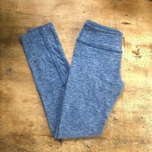Pants - Heather Blue Beyond Yoga Leggings